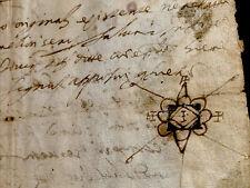ANTIQUE MANUSCRIPT 1583