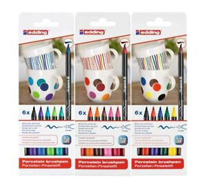 edding Porzellan-Pinselstift, 1-4 mm, 4200 6er Set - Farbe wählbar