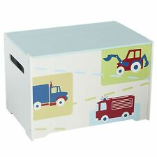 KIDS VEHICLES TOY STORAGE BOX NEW BLUE KIDS BEDROOM NEW FREE P+P