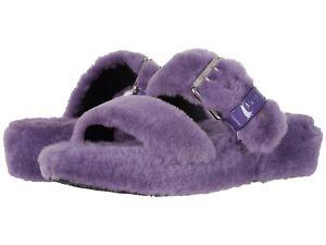 Women's Shoes UGG FUZZ YEAH Sheepskin Slipper Slide Sandals 1104662 VIOLET BLOOM