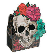Pack of 12 - Spooky Floral Favour Boxes  Halloween Skull Party Loot Bags Fillers