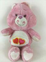 "Kenner Care Bears Love-A-Lot Bear 12"" Plush Stuffed Toy Vintage 1983 Hearts"