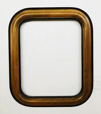 Holzrahmen  Leerrahmen 18 x 24 cm Braun/Schwarz antik mit abgerundeten Ecken RAR