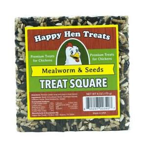 Happy Hen Treats Poultry Treats, Mealworm & Seed Squares, 6-oz.