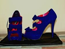 NEW Next Signature Purple Suede PEEP TOE SHOES Clubwear high heels So 7 RRP£60