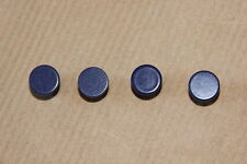 4 x Small Blue Knobs for tool box Brass with Screws Industrial Loft Vintage