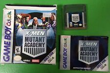 X-Men Mutant Academy Game Boy Color Game Box And Manual - Nintendo