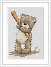 Bruno The Bear Baseball Bruno Cross Stitch Kit