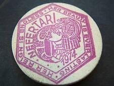 1995 Nefertari Theme Purple Ink Wood MardiGras Doubloon