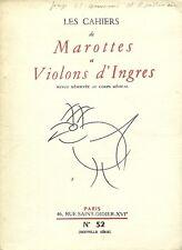 LES CAHIERS DE MAROTTES ET VIOLONS D'INGRES N°52