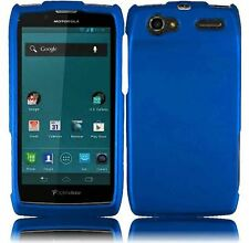 For Motorola Electrify 2 XT881 Rubberized HARD Case Snap Phone Cover COOL Blue
