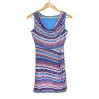 Diana Ferrari Business Office Work Blue Stretch Sleeveless Dress Size 12