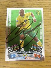 "2011/2012 AUTOGRAFO: Norwich City-Vaughan, James [firmato a mano ""TOPPS MATCH ATT"