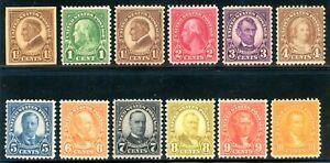 USAstamps Unused VF-XF US 1926 Rotary Printing Complete Set Scott 631-642 OG MNH