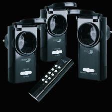3er-Set Außen Funksteckdosen Home Easy 3x 1000W Steckdose Funkschalter IP44 ELRO