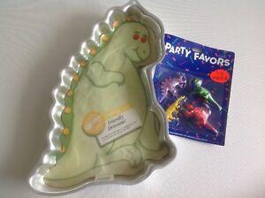 Vintage Wilton Cake Pan 80s Friendly Dinosaur Original Insert Bonus Party Favor