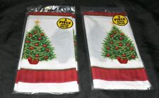 Lot of 6 Christmas Plastic table covers Twinkling Tree Table Covers (3 per Pkg)