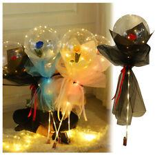 Luminous LED Balloon Round Bubble Decor Red Rose Wedding Valentines Day Gift