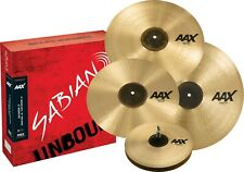 Sabian AAX 4pc Promotional Set w/Free 18 Crash ; 14/16/18/21  Natural Finish!