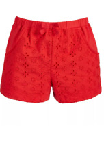First Impressions TODDLER BABY Girl Eyelet Cotton Red Shorts 12 Months NWT