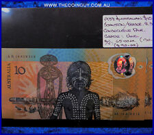 1988 Australian Ten Dollar Polymer Notes Consecutive Pair Unc