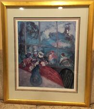 Barbara A. Wood, A View From The Garden Lithograph, Limited Ed, Signed, Numbered