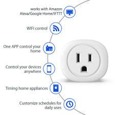 Kootion 2 Pack Fireproof Energy Save Timer Remote control Us Smart Wifi Plug