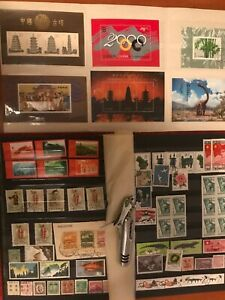 Collected many stamps from 1800-2000 in China.