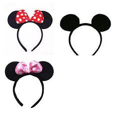 Minnie&Mickey Mouse Ears Headband/Bows,Girls/Boys Fancy dress/Xmas/Hen Parties