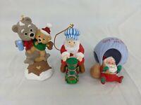 Hallmark Christmas Ornament Lot Grandpa Santa Claus