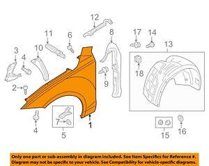AUDI OEM 12-16 A7 Quattro-Front Fender Quarter Panel Left 4G8821105B