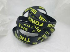 Star Wars THE FORCE IS STRONG WITH ME Waterproof Rubber Wristband LOT of 10