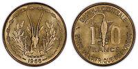 WEST AFRICAN STATES 10 FRANCS 1966 (CHOICE/GEM UNC) *PREMIUM QUALITY*