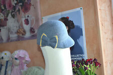 chapeaux neuf gris noeud moutarde100% laine 2/5 ans ira belle robe