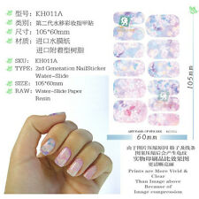 12tips Nail Art Sticker Water Transfer Stickers Decoration Pink Decal Decoration
