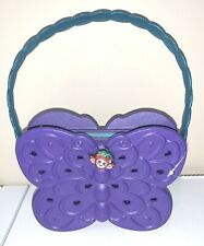 CROCS Brand Purple BUTTERFLY Zipper Purse Pocketbook Girls Rubber NWOT!