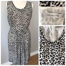 Silk Sheath Sun Dress Size 44 (UK 14/16) GERARD DAREL Animal Print Belt