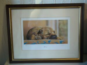 'Bliss' by Paul Doyle Signed limited edition. Border terrier