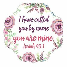 I Have Called You By Name You Are Mine Pink Floral 3 x 5 Vinyl Sticker Decals