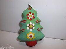 Vintage Mexican Folk Art Pottery CHRISTMAS TREE Ornament LIME GREEN