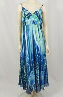 Per Una Long Maxi Dress Blue Green Size UK 14 Summer Wedding Races