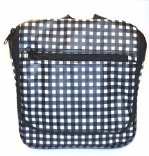 Bloomingdales Bag Hanging Toiletry Travel Cosmetic Black Checked Shave Makeup