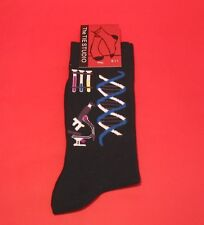DNA Research Men's Black Socks Biology Science Teacher End of Term Gift