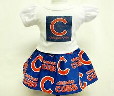 Chicago Cubs Theme Outfit For 18 Inch Doll