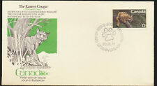 Cougar Endangered Wildlife Canada Cachet First Day Cover Unaddr 1977 Lot1056