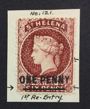 MOMEN: ST HELENA SG #27 P14 CROWN CC MINT OG H £120 LOT #5128