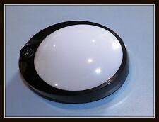 6 LEDS DOME UTILITY LIGHT 12 V BLACK RV, CAMPER,  NEUTRAL WHITE LED , W/ SWITCH