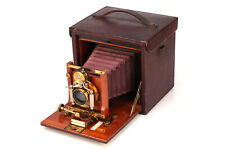 No.4 Folding Kodak 4x5 Plate Holder Camera- Brass  Mahogany