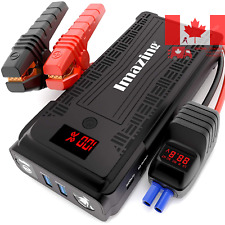 Portable Car Jump Starter w/ Smart Intelligent Clamp & Quick Charging USB Ports