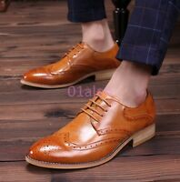 Mens Wing Tip Leisure Brogue Retro Carved Dress Vogue Formal Shoes Oxfords 2019
